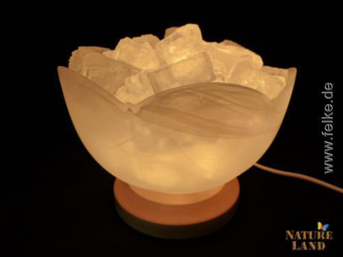 salzkristall lampe kristallschale natureland. Black Bedroom Furniture Sets. Home Design Ideas